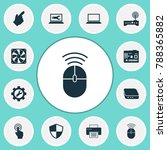 device icons set with defense ... | Shutterstock .eps vector #788365882