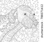adult coloring book page a cute ... | Shutterstock .eps vector #788371612