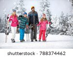 happy family at winter holiday... | Shutterstock . vector #788374462