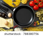 cooking pan  pasta and... | Shutterstock . vector #788380756