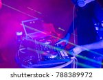 dj with headphone playing and... | Shutterstock . vector #788389972