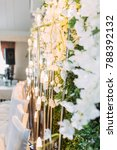 the decor of the wedding hall | Shutterstock . vector #788392132