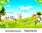 agriculture,animal,background,cattle,cottage,country,countryside,cow,dairy,day,domestic,eating,editable,farm,farmland