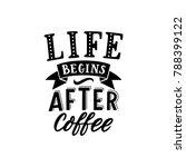 hand drawn lettering life... | Shutterstock .eps vector #788399122