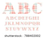 capital letters of the english... | Shutterstock .eps vector #788402002
