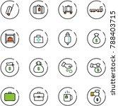 line vector icon set   suitcase ...