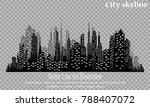 the silhouette of the city in a ... | Shutterstock .eps vector #788407072