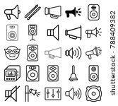loud icons. set of 25 editable... | Shutterstock .eps vector #788409382