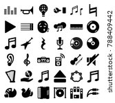 music icons. set of 36 editable ... | Shutterstock .eps vector #788409442