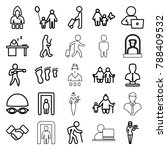 adult icons. set of 25 editable ... | Shutterstock .eps vector #788409532