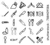 knife icons. set of 25 editable ... | Shutterstock .eps vector #788409586