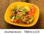 tuna and avocado salad with... | Shutterstock . vector #788411215