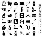 hygiene icons. set of 36... | Shutterstock .eps vector #788412232