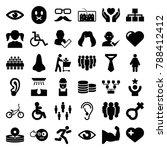 human icons. set of 36 editable ... | Shutterstock .eps vector #788412412