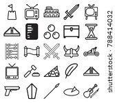 antique icons. set of 25... | Shutterstock .eps vector #788414032