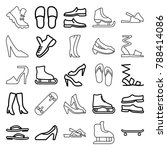 footwear icons. set of 25... | Shutterstock .eps vector #788414086