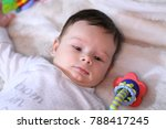2 months old lovely baby... | Shutterstock . vector #788417245