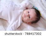 2 months old lovely baby... | Shutterstock . vector #788417302