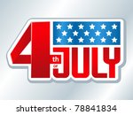 4th of july american... | Shutterstock .eps vector #78841834