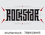 rockstar   music poster with... | Shutterstock .eps vector #788418445