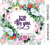 bouquet flower frame in a... | Shutterstock . vector #788419222