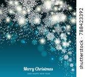 merry christmas invitatiom ... | Shutterstock .eps vector #788423392