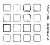collection of handdrawn frames. ... | Shutterstock .eps vector #788425402