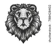 lion's head vector illustration ... | Shutterstock .eps vector #788428402
