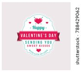 vintage valentine day label... | Shutterstock .eps vector #788429062