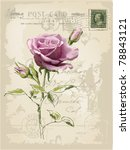 vintage postcard with a... | Shutterstock .eps vector #78843121
