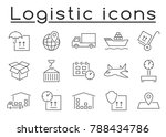 logistic icon set | Shutterstock .eps vector #788434786