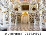 Small photo of ADMONT, AUSTRIA - AUGUST 10, 2017: : Admont Abbey Library, part of Benedictine monastery in Styria. The library of Admont Abbey is one of the largest all-embracing creations of the late European Baroq