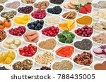 health food for a healthy heart ...   Shutterstock . vector #788435005