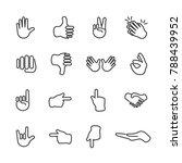 vector image set of hands the... | Shutterstock .eps vector #788439952