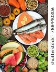 healthy diet food concept with... | Shutterstock . vector #788440306