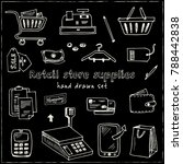 hand drawn doodle retail store... | Shutterstock .eps vector #788442838