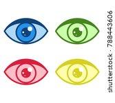 simple eye icons set.... | Shutterstock .eps vector #788443606