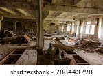 destroyed command post of the... | Shutterstock . vector #788443798