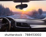 view through the windshield of... | Shutterstock . vector #788453002