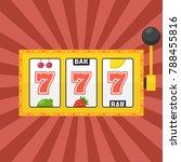 golden slot machine with lucky...   Shutterstock .eps vector #788455816
