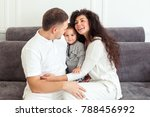 young happy family  parenthood... | Shutterstock . vector #788456992