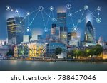 city of london at night and... | Shutterstock . vector #788457046