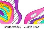 abstract geometrical papercut... | Shutterstock .eps vector #788457265