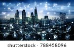 city of london at sunset with... | Shutterstock . vector #788458096