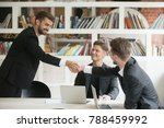 businessman greeting... | Shutterstock . vector #788459992