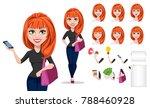 freelancer woman cartoon... | Shutterstock .eps vector #788460928