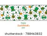 saint patrick's day banner ... | Shutterstock .eps vector #788463832