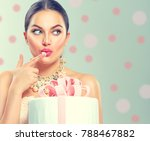 beauty fashion model girl... | Shutterstock . vector #788467882