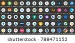 vector digital currencies round ... | Shutterstock .eps vector #788471152
