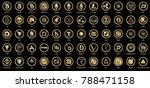 vector digital currencies gold... | Shutterstock .eps vector #788471158